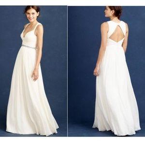 J crew silk wedding dress size 2 NEW W/ tags